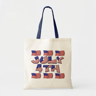4th of July Flag Tote Bag