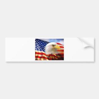 4th of July Flag Bumper Sticker
