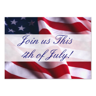 4th of July Flag Invitations