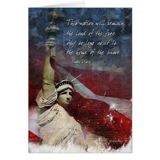 4th of July Greeting Card with Statue of LIberty