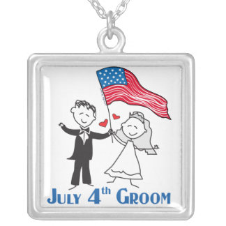4th of July Groom Pendant