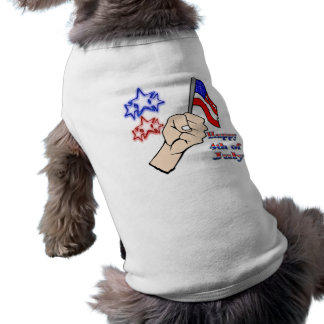4th of July - Hand Holding Flag Pet Clothing