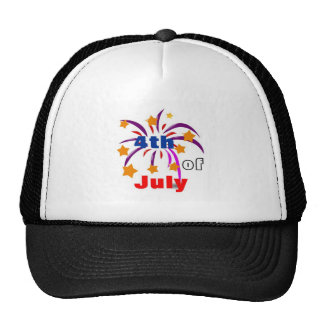 4th of July Mesh Hats