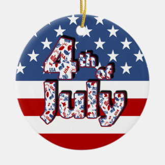 4th of July Independence Day Christmas Ornament