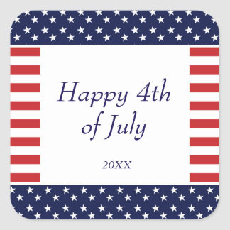 4th of July Independence Day Party Sticker