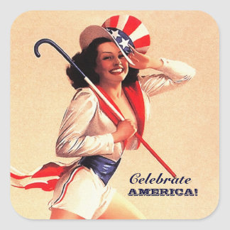 4th of July , Independence Day Pin-up Stickers