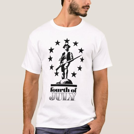 4th of July Minuteman T-Shirt