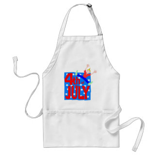 4th of July party guy Standard Apron