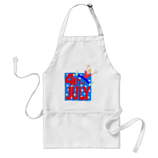 4th of July party guy Aprons