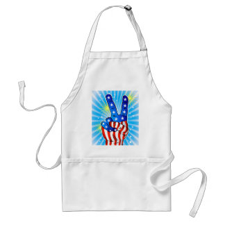 4th of July - Patriotic American-Victory & Peace Standard Apron