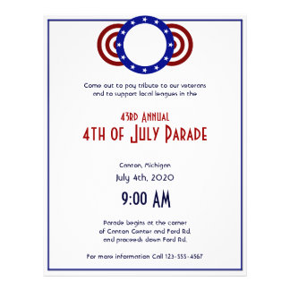 4th of July Patriotic Circle of Stars 21.5 Cm X 28 Cm Flyer