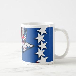 4th of July, Patriotic Pin Wheel Basic White Mug