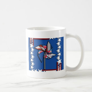 4th of July, Patriotic Pin Wheel Mugs