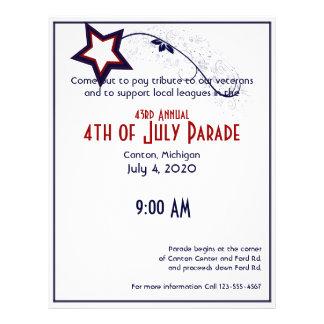 4th of July Patriotic Star Light 21.5 Cm X 28 Cm Flyer