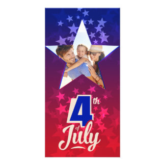 4th of July personalized insert template Personalized Photo Card