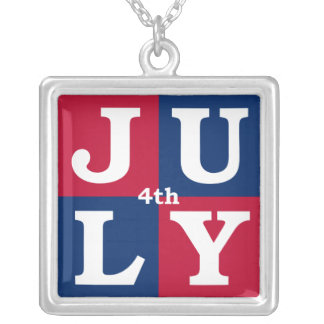 4th of July Personalized Necklace