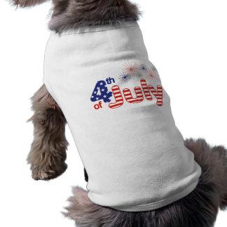 4th of July Pet Shirt