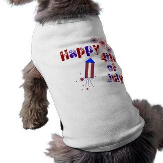4th of July Pet T Shirt