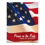 4th of July  Picnic  Independence Day Invite