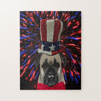 4th of July Pug Jigsaw Puzzle