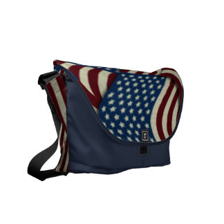 4TH Of July Red White And Blue American Flags Commuter Bag