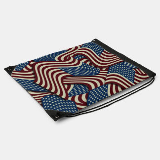 4TH Of July Red White And Blue American Flags Rucksack