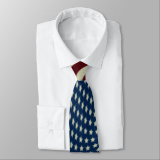 4TH Of July Red White And Blue American Flags Tie