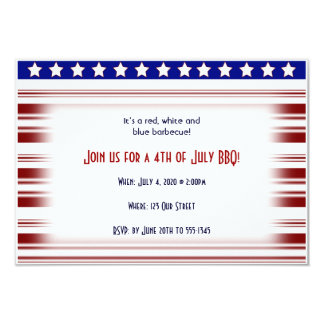 4th of July Red White and Blue Candystripe Custom Announcements