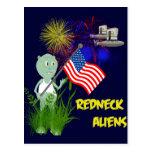 4th of July Redneck Aliens Postcard