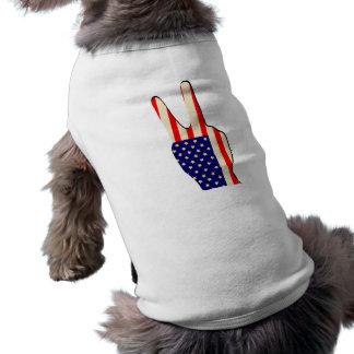 4th of July Sleeveless Dog Shirt