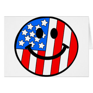 4th of July Smiley Card