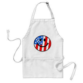 4th of July Smiley Standard Apron