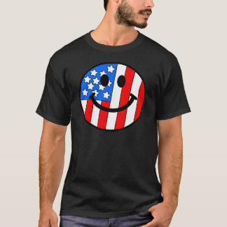 4th of July Smiley T-Shirt