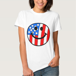 4th of July Smiley Tees