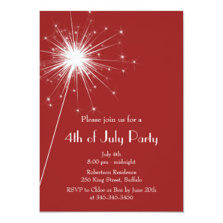 4th of July Sparkles Party Invitation