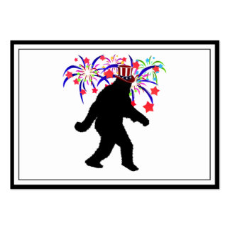 4th of July Squatchin' w/Fireworks Business Cards