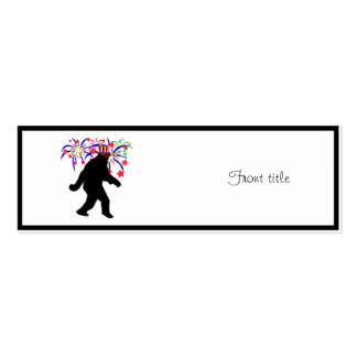 4th of July Squatchin' w/Fireworks Business Card Templates
