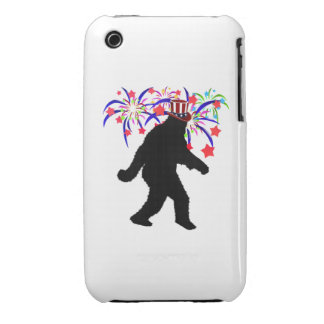 4th of July Squatchin' w/Fireworks Case-Mate iPhone 3 Cases