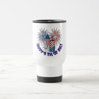 4TH OF JULY STAINLESS STEEL TRAVEL MUG