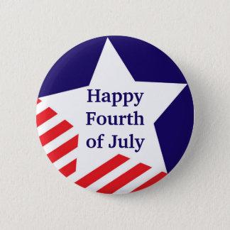 4th of July star stripe red white blue custom 6 Cm Round Badge