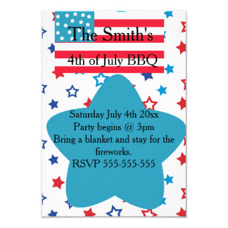 4th of July Stars and Flag Invitation