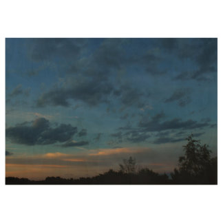 4th of July Sunset Sky 2016 Wood Poster