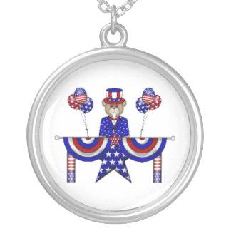 4th of July Teddy President Pendant