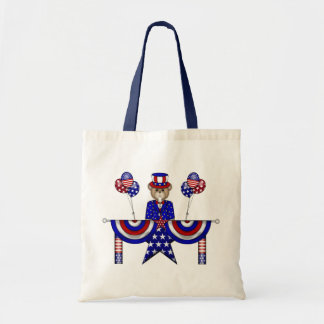 4th of July Teddy President Budget Tote Bag