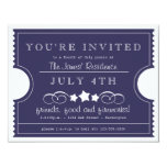 4th of July Ticket Invitation