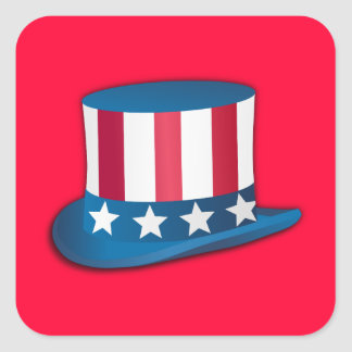4th of July Top Hat Stickers