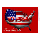 4th of July USA Card
