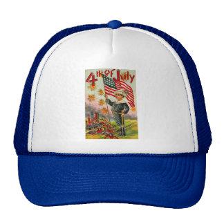4th of July ! Vintage Art Trucker Hats