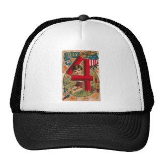 4th of July - Vintage Art Hat