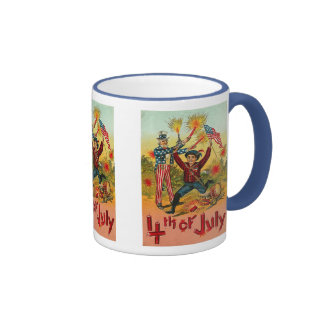 4th of July - Vintage art Mugs